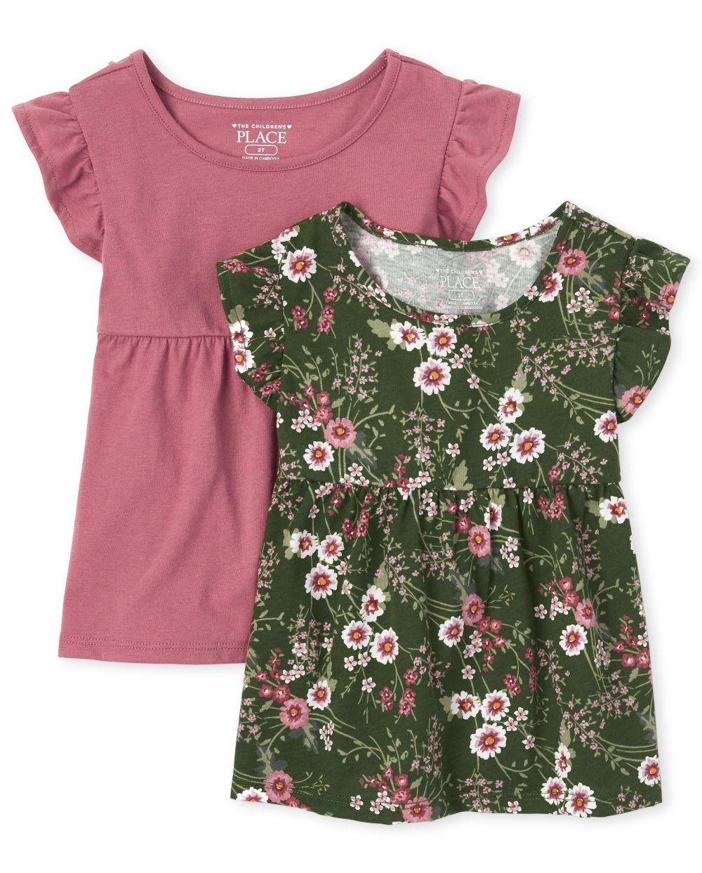 Toddler Girls Flutter Top 2-Pack