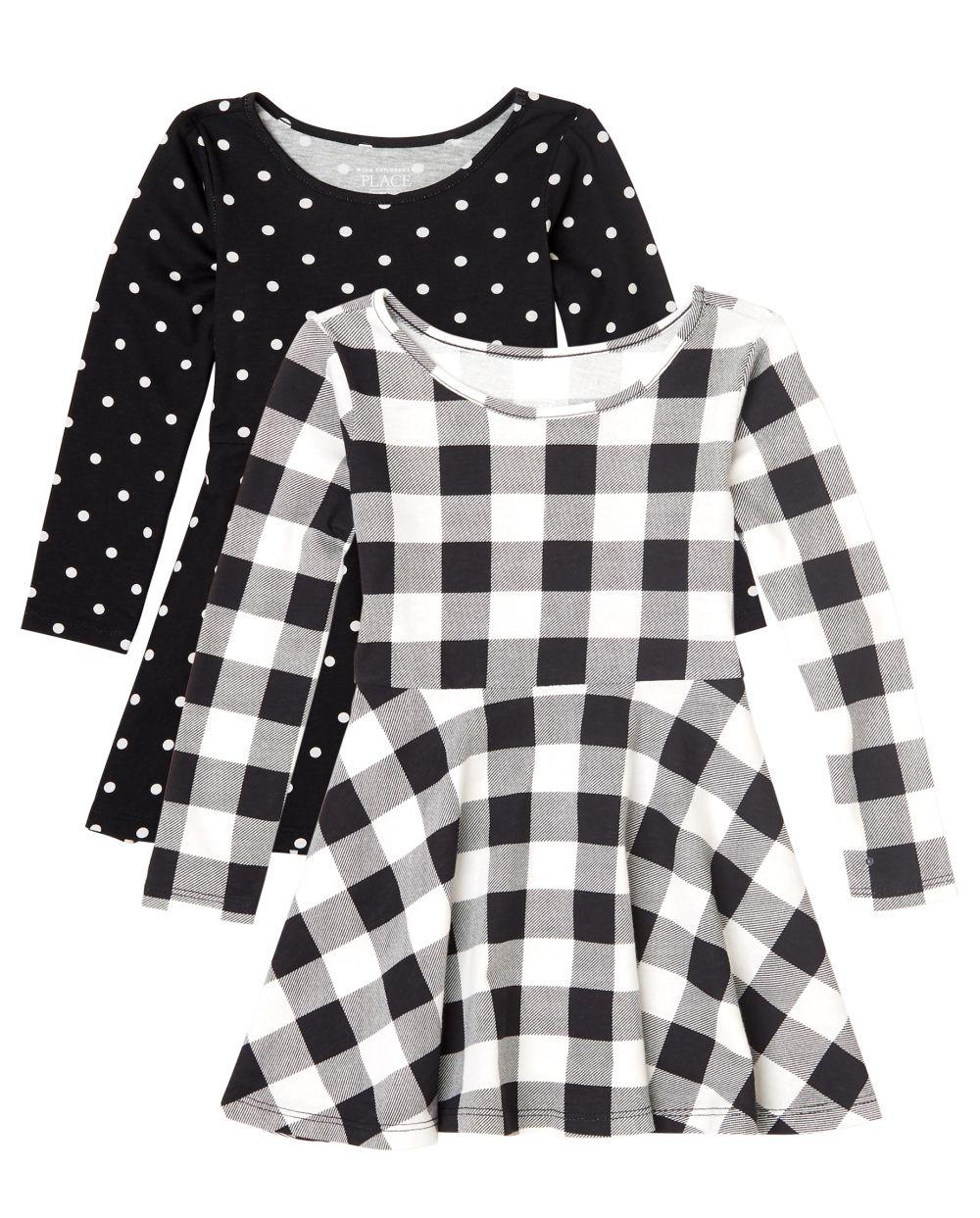 Toddler Girls Print Skater Dress 2-Pack