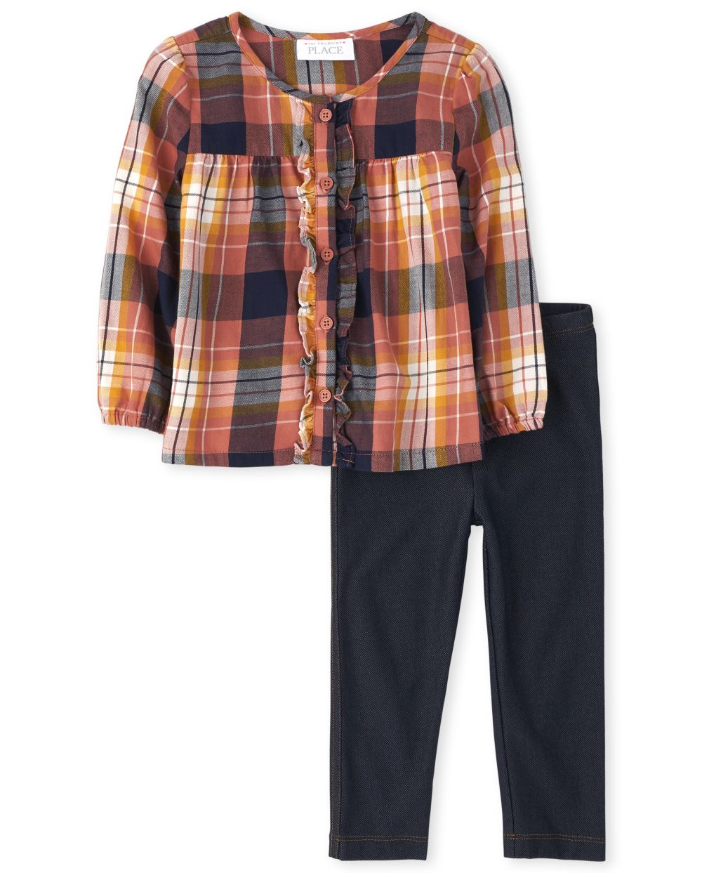 Toddler Girls Mommy And Me Plaid Matching Outfit Set