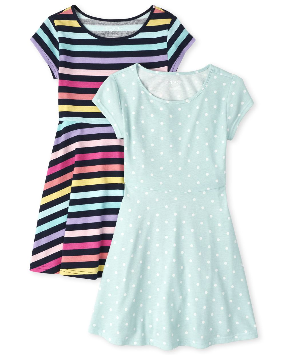 Girls Essential Skater Dress 2-Pack