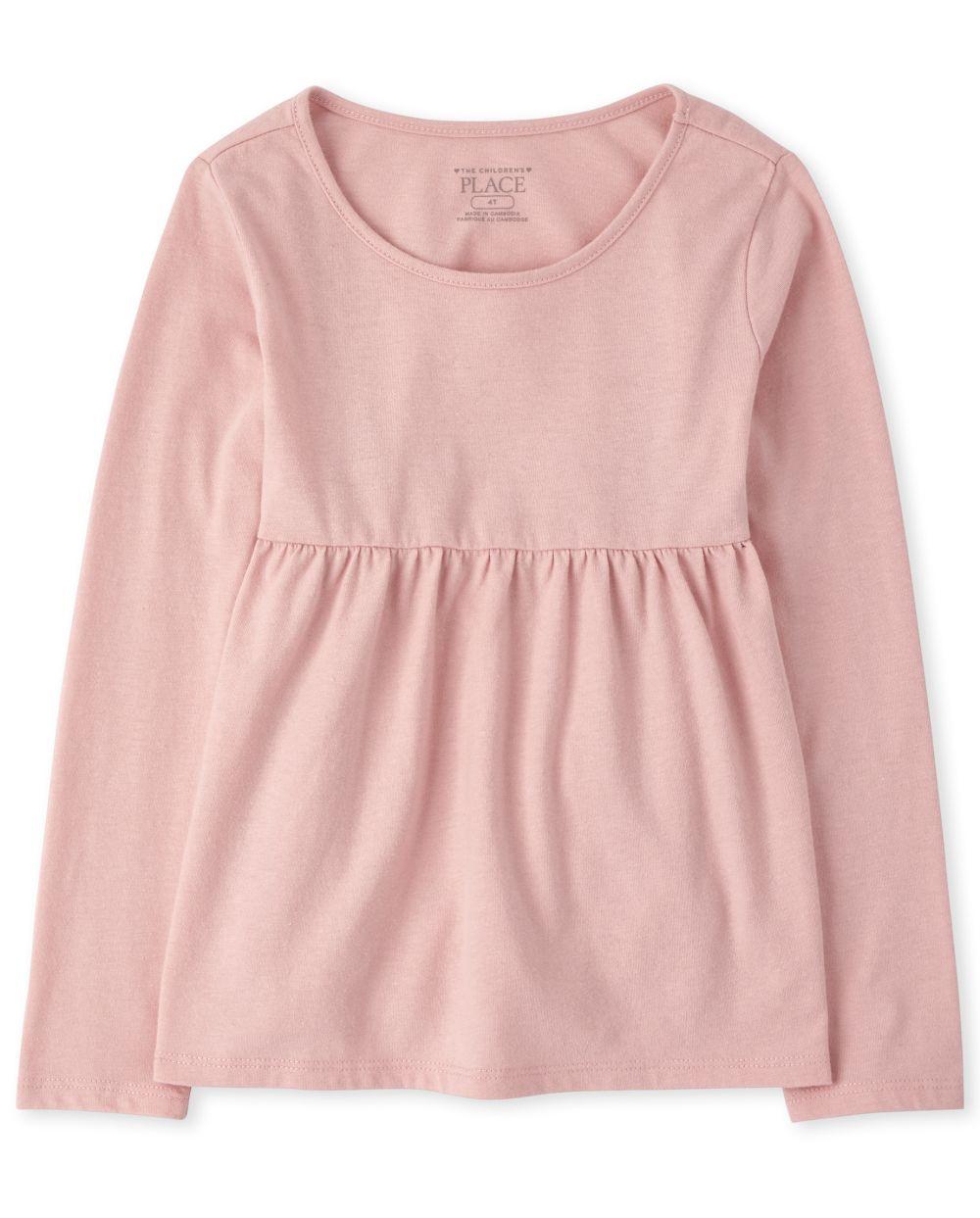 Top tipo túnica de mezcla y combinación para bebés y niñas pequeñas