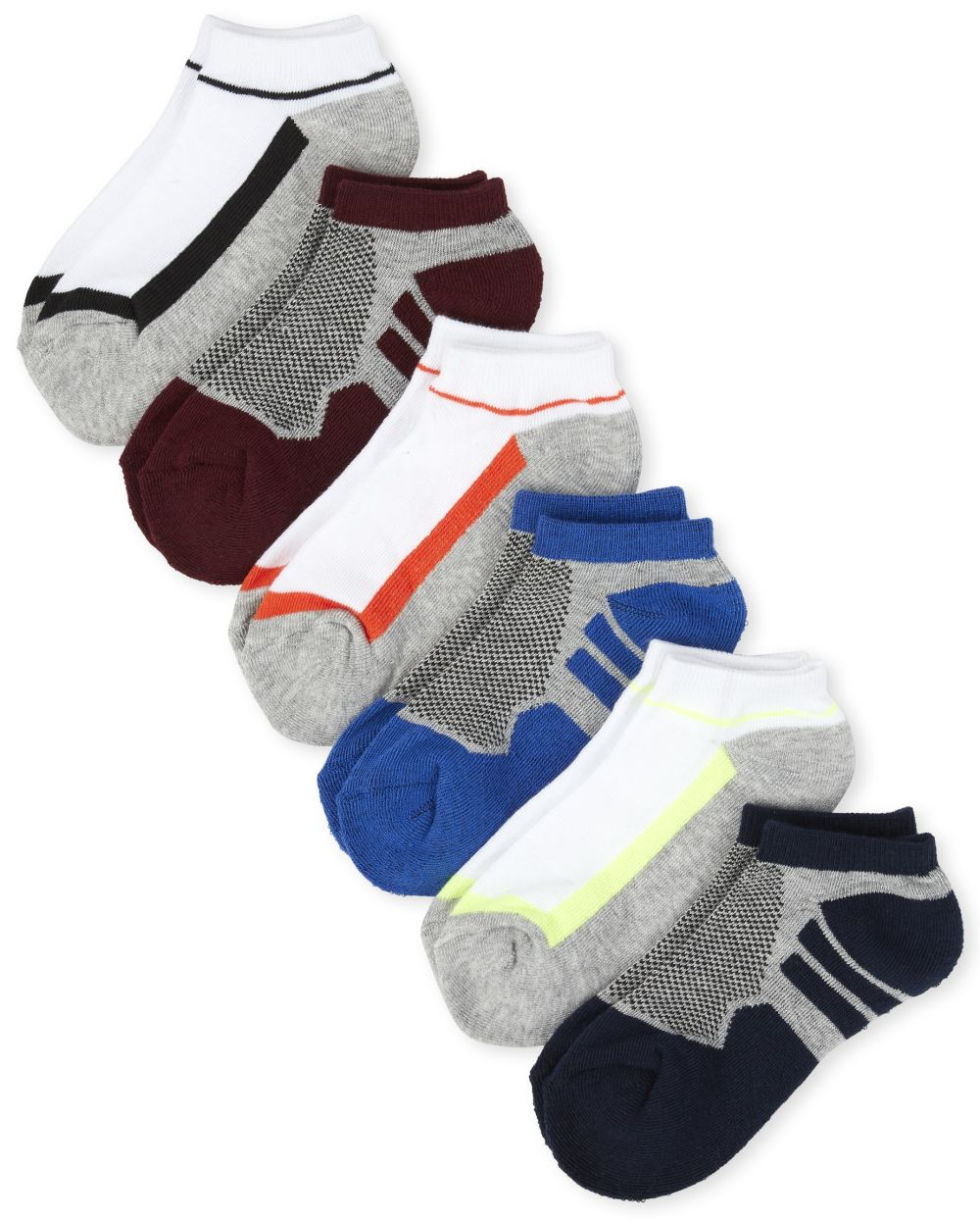 Boys Athletic Ankle Socks 6-Pack