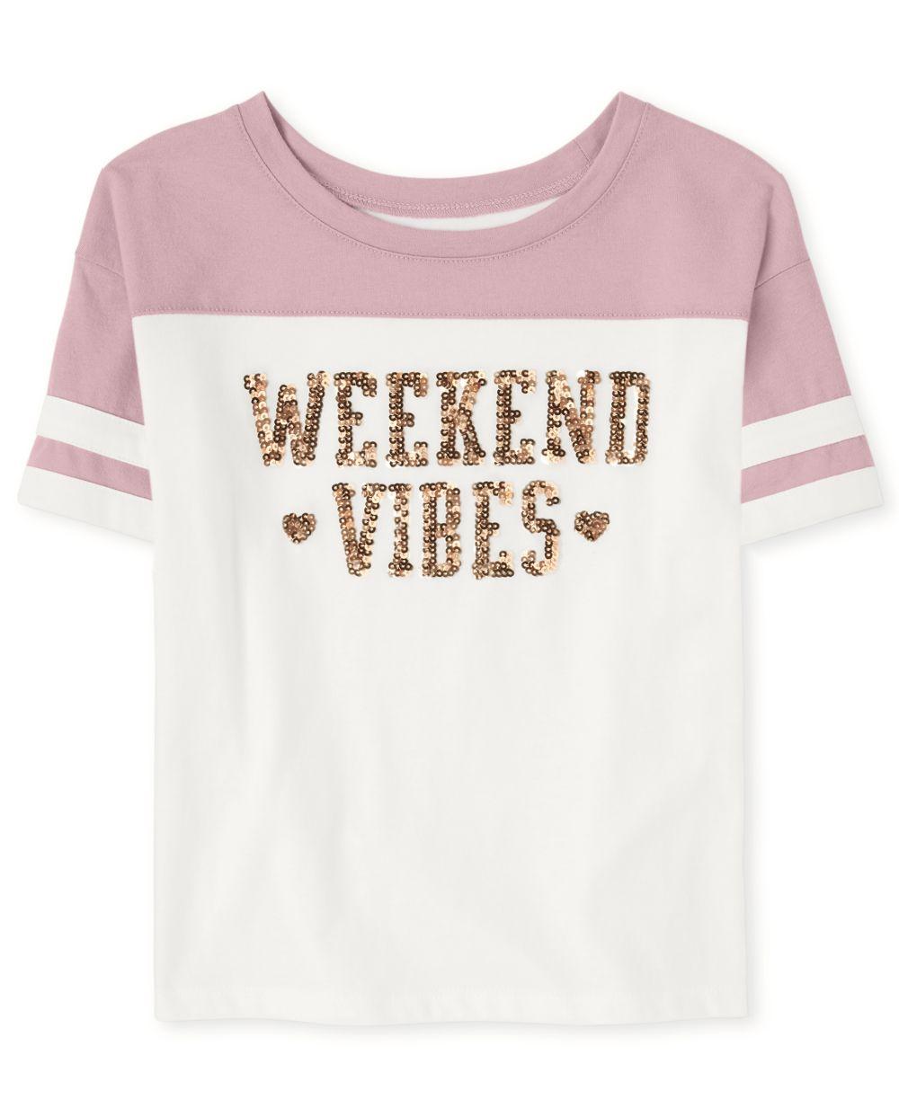 Top para niña Active Glitter Weekend Vibes