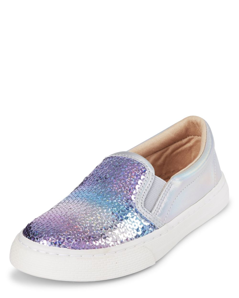 Girls Sequin Slip On Sneakers