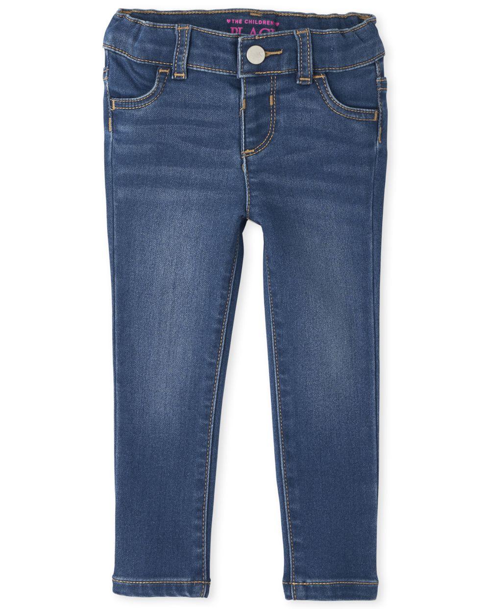 Baby And Toddler Girls Super-Soft Stretch Denim Legging Jeans