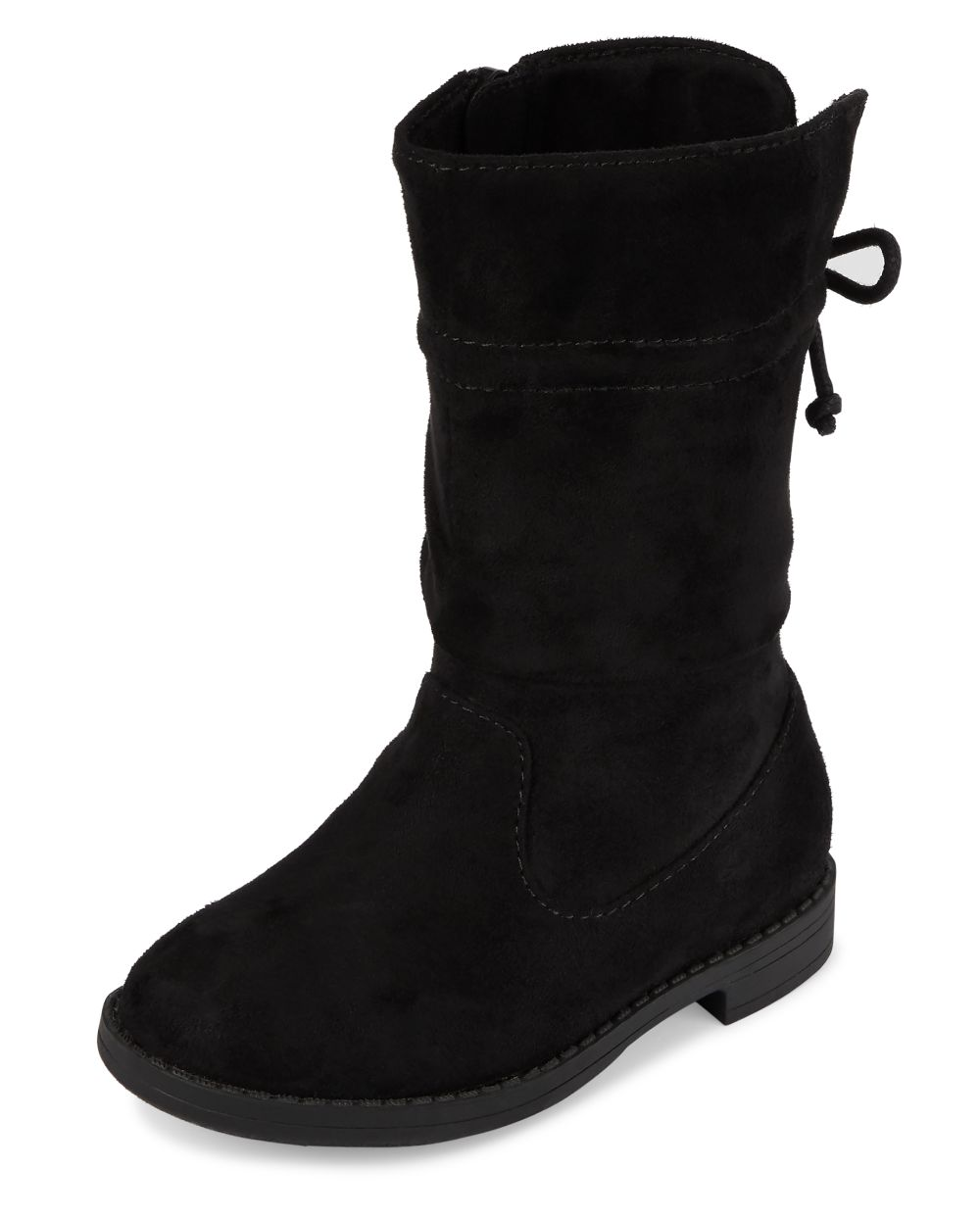Toddler Girls Faux Suede Tall Slouch Boots