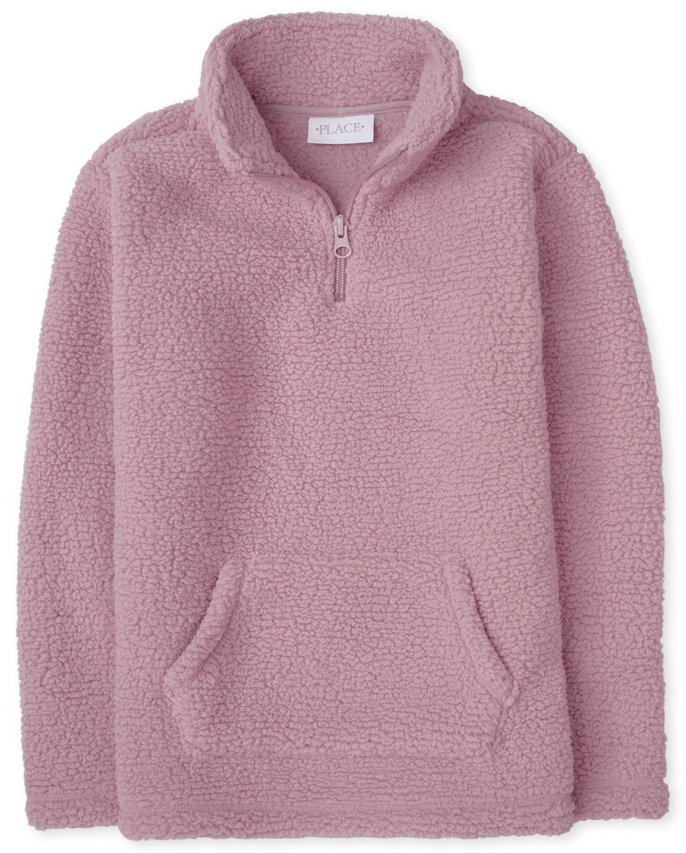 Girls Sherpa Half Zip Pullover