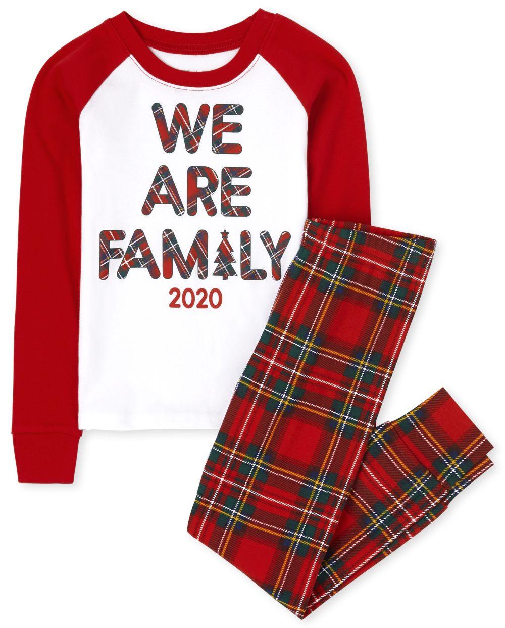Unisex Kids Matching Family Tartan Snug Fit Cotton Pajamas