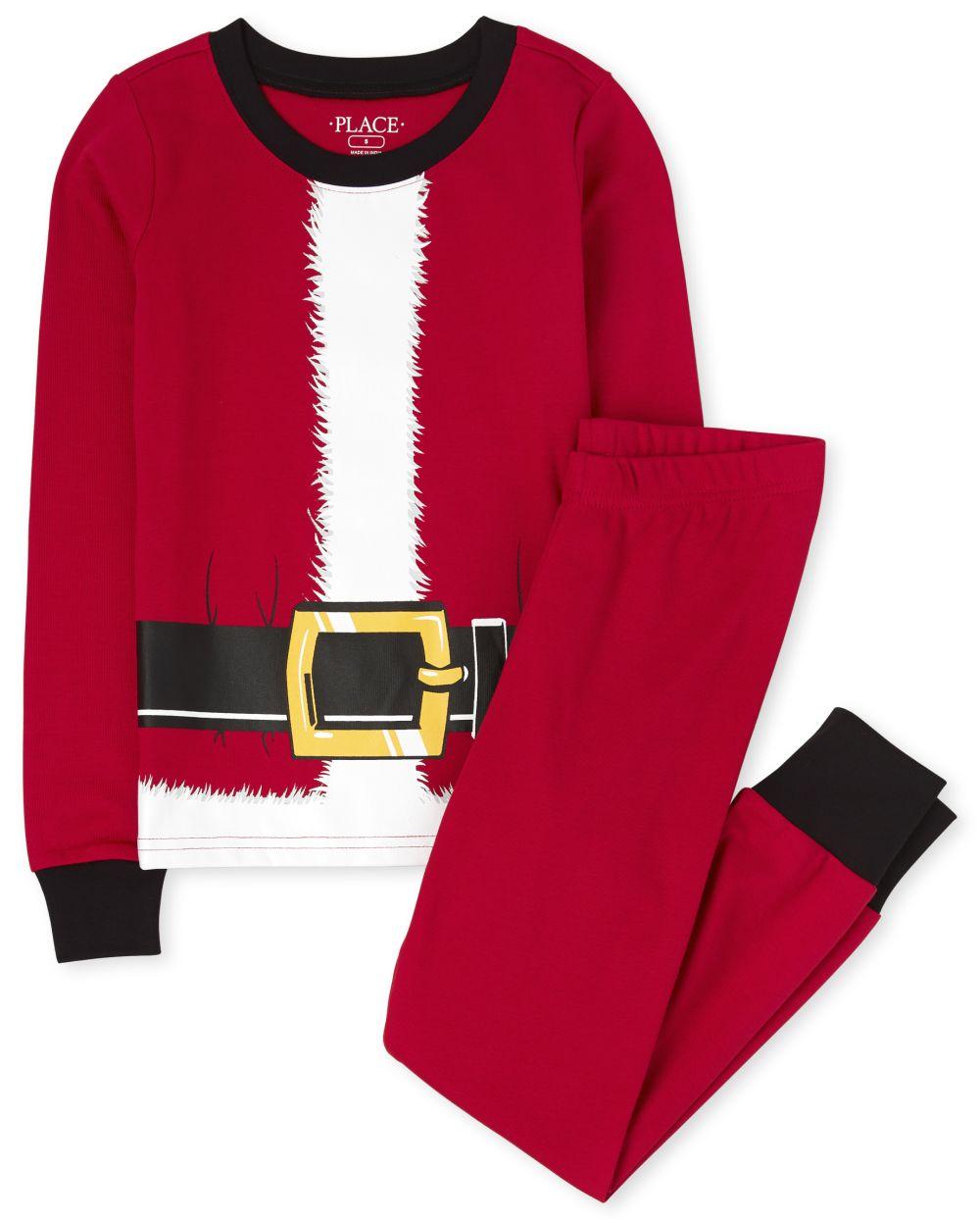 Unisex Kids Matching Family Santa Suit Snug Fit Cotton Pajamas