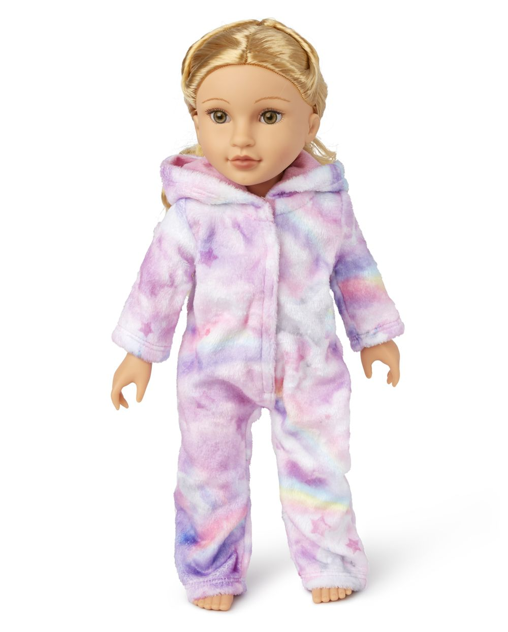 Doll Mommy And Me Unicorn Cloud Fleece Matching One Piece Pajamas
