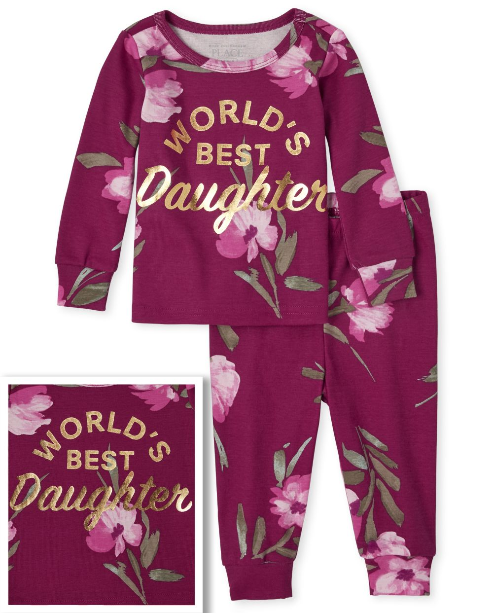 Baby And Toddler Girls Mommy And Me Best Matching Snug Fit Cotton Pajamas