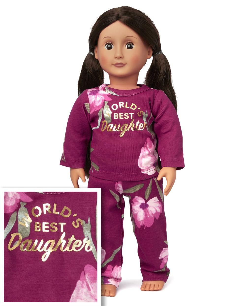 Doll Mommy And Me El mejor pijama de algodón a juego con ajuste ceñido