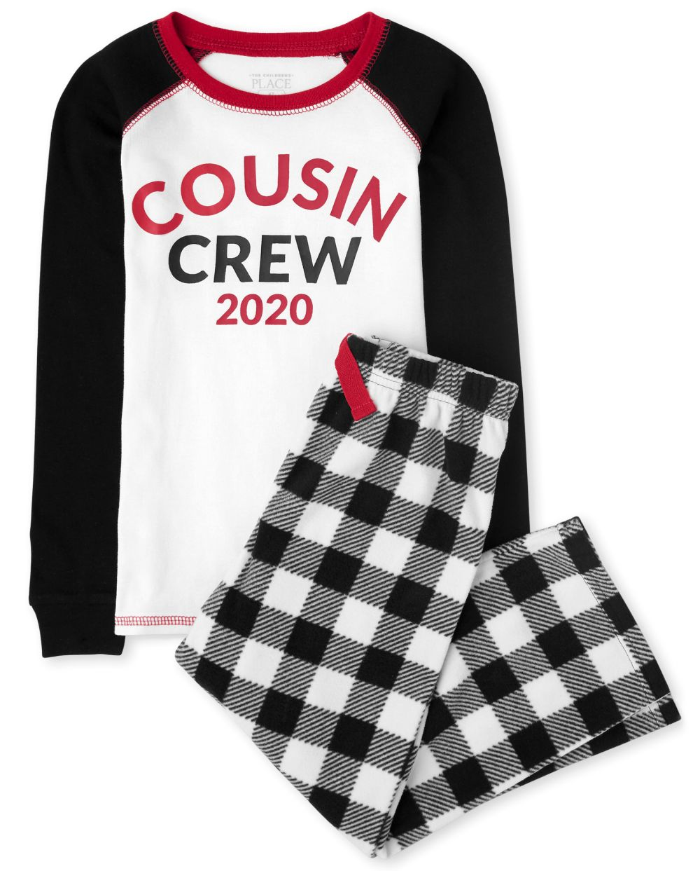 Unisex Kids Matching Family Buffalo Plaid Snug Fit Cotton And Fleece Pajamas