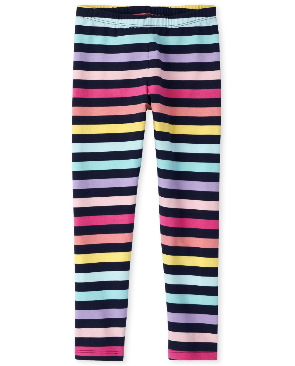 Girls Rainbow Striped Leggings