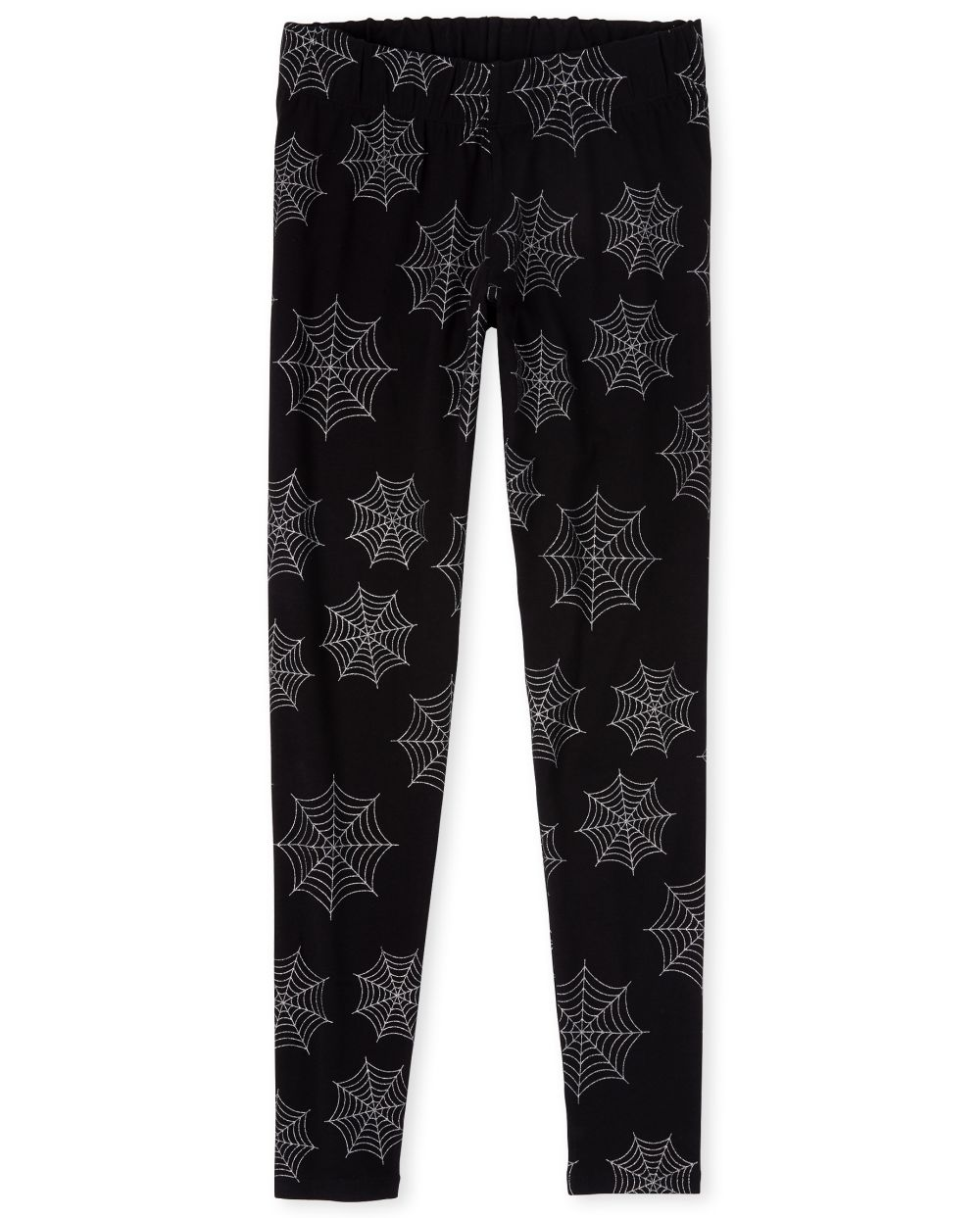 Womens Mommy And Me Halloween Glitter Spider Matching Leggings