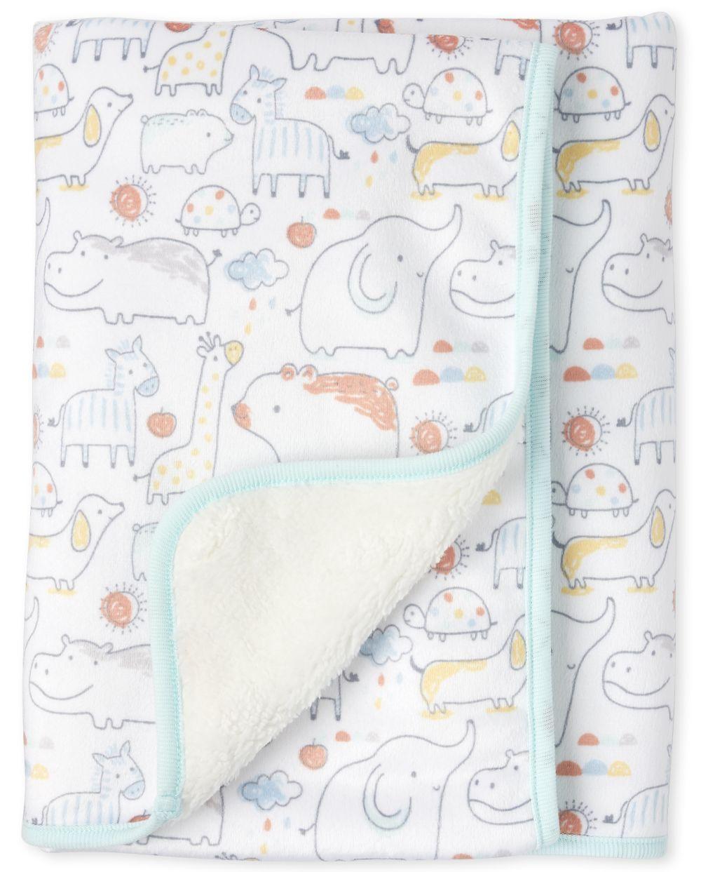 Unisex Baby Doodle Animals Cozy Blanket