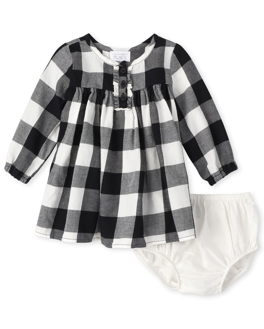 Baby Girls Matching Family Buffalo Plaid Shirt Dress