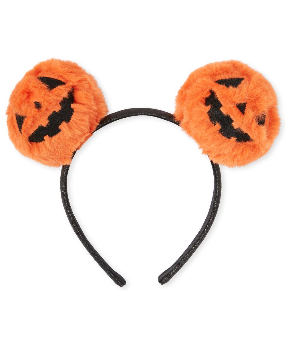 Girls Halloween Pumpkin Pom Pom Headband