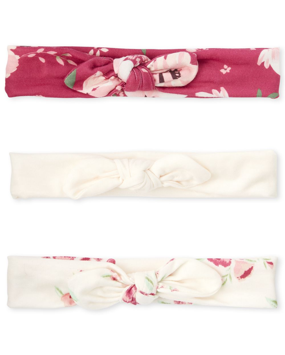 Baby Girls Floral Bow Headwrap 3-Pack