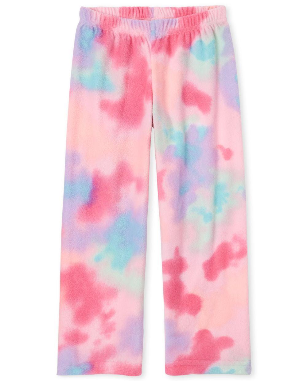 Girls Tie Dye Fleece Pajama Pants