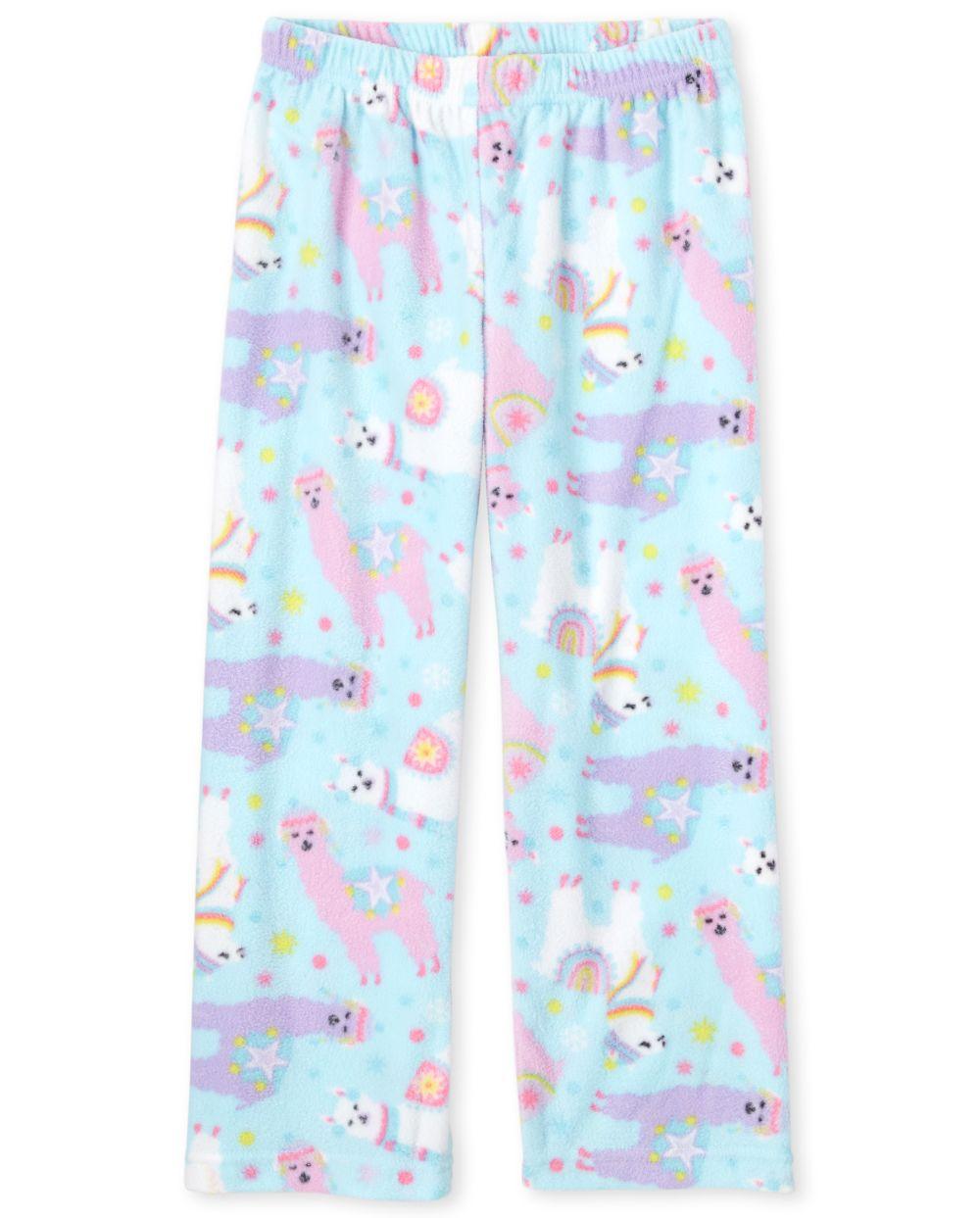 Girls Llama Fleece Pajama Pants