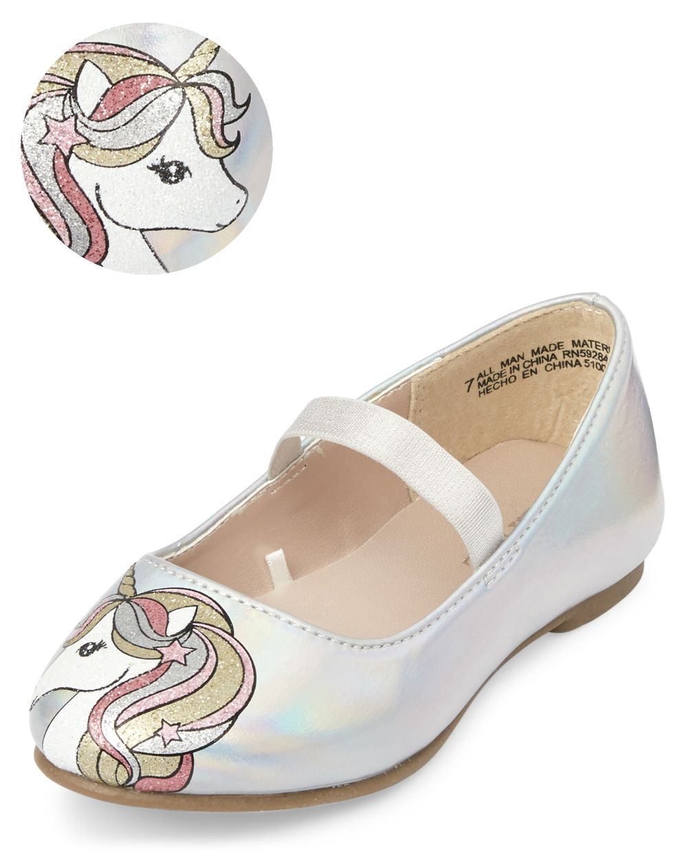Toddler Girls Unicorn Ballet Flats