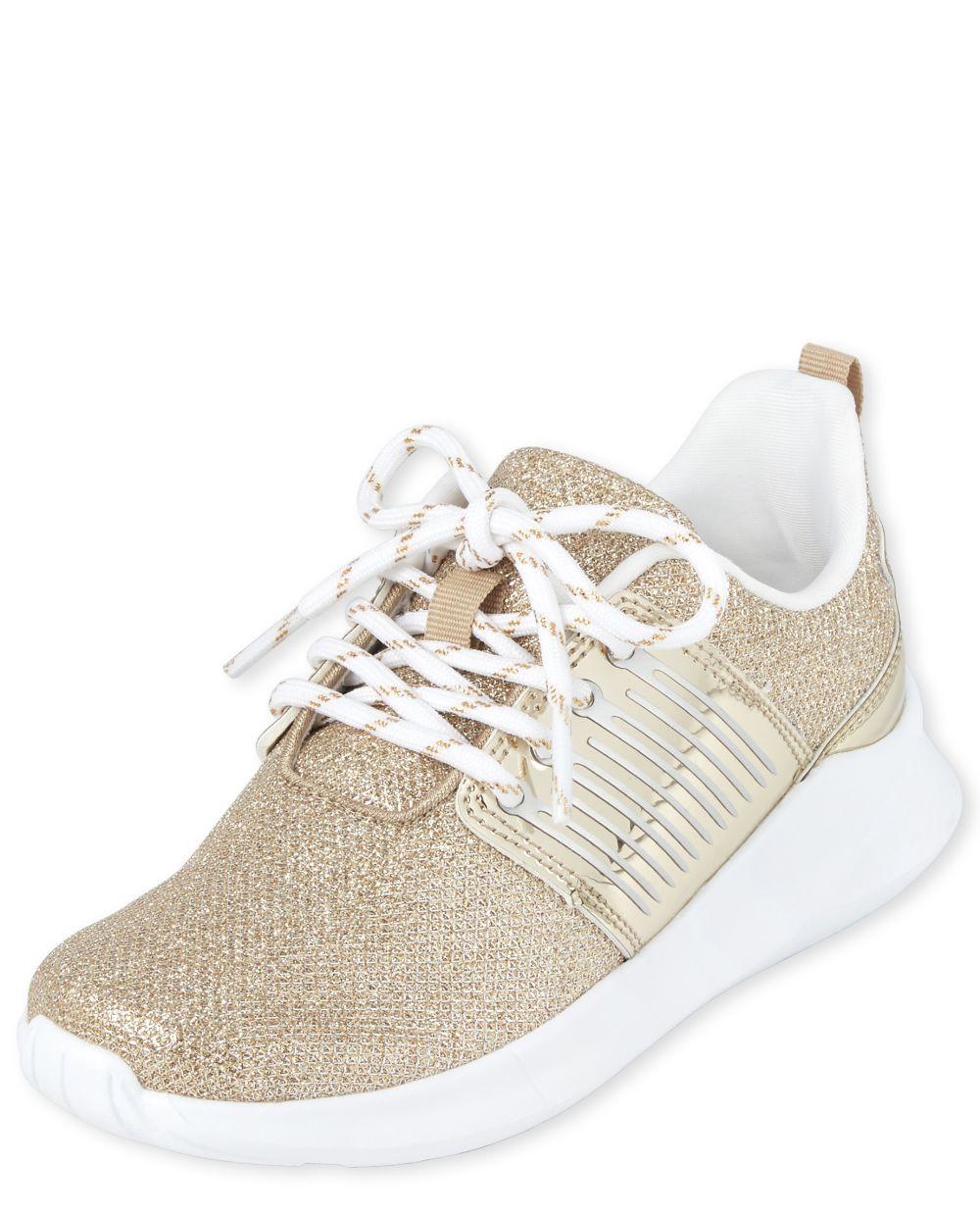 Zapatillas de running de malla brillante para niñas