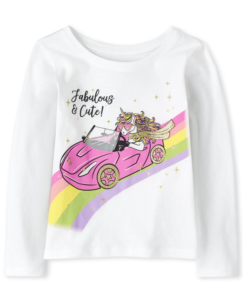 Baby And Toddler Girls Fabulous Unicorn Graphic Tee