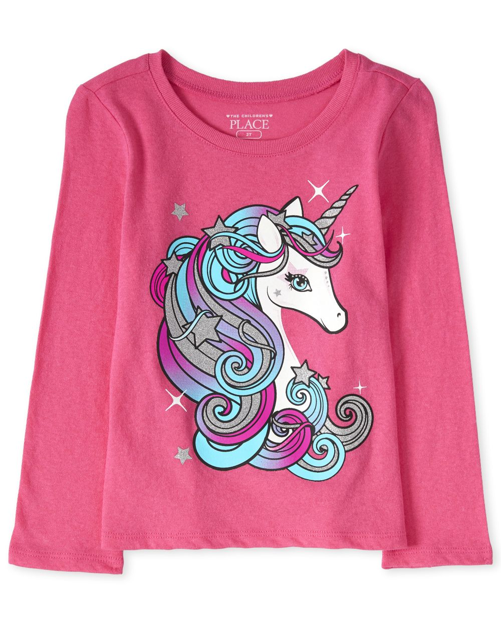Baby And Toddler Girls Glitter Unicorn Graphic Tee
