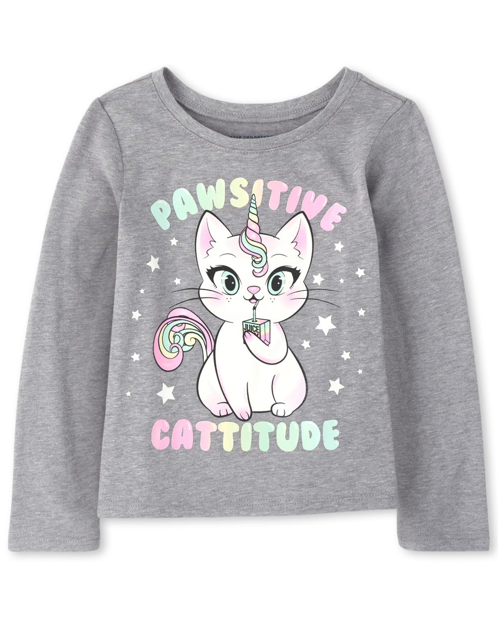 Baby And Toddler Girls Caticorn Graphic Tee