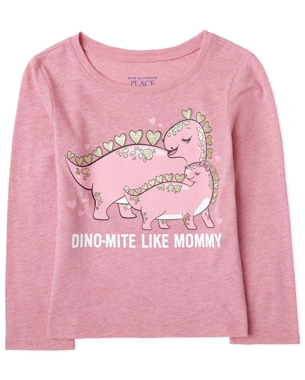 Baby And Toddler Girls Dino Mite Graphic Tee