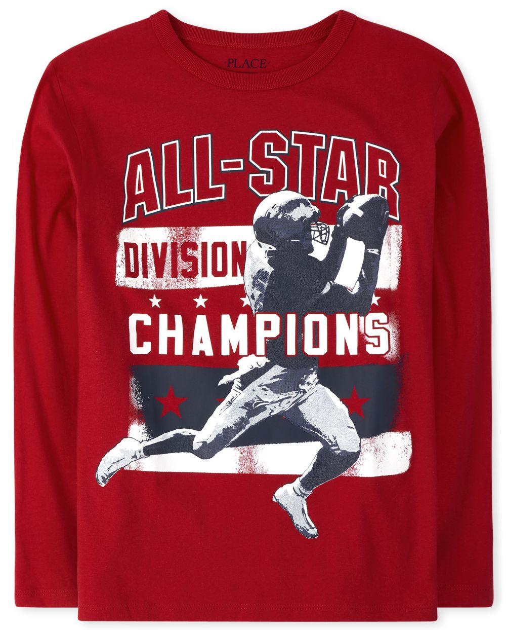 Boys All Star Football Graphic Tee
