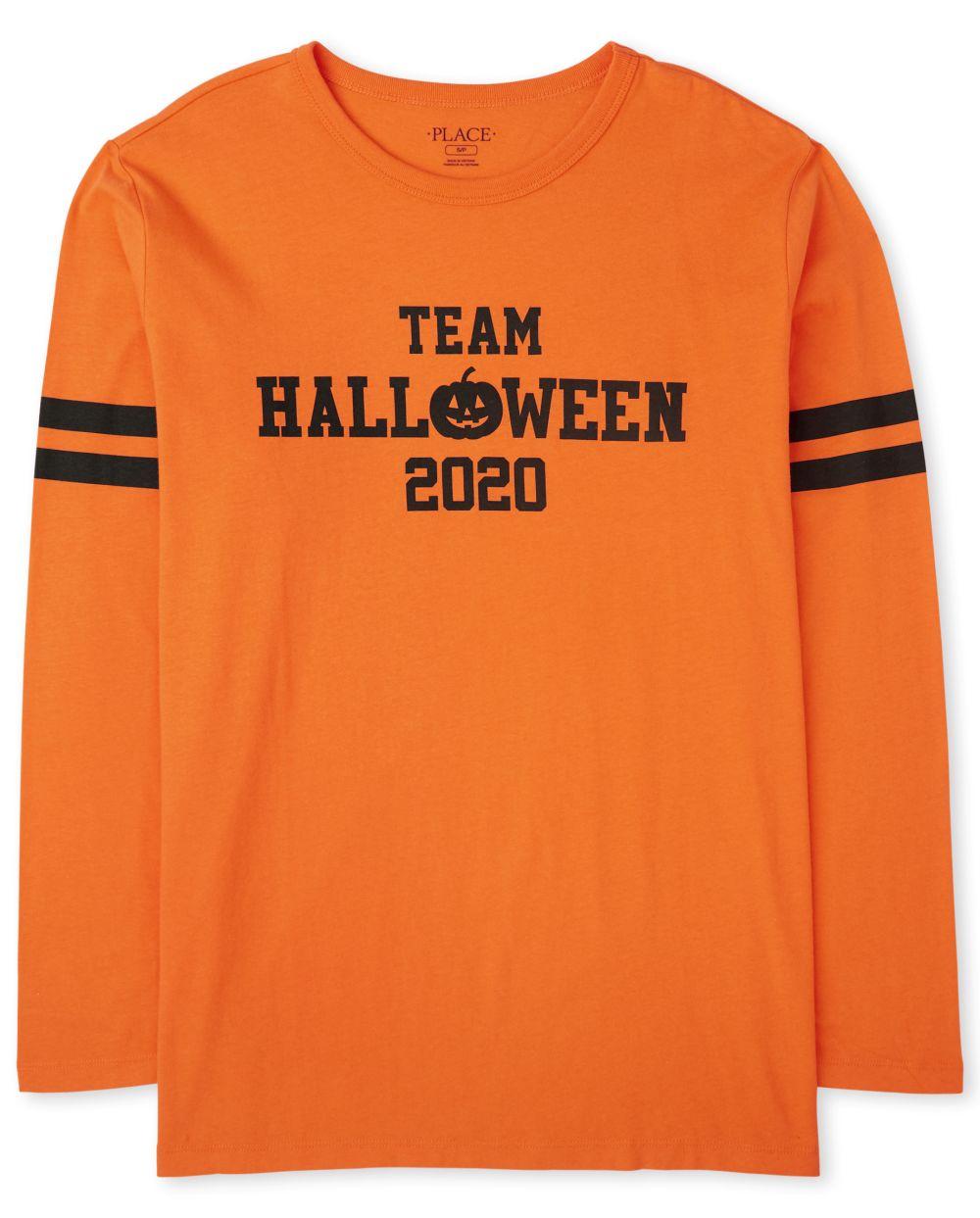 Camiseta estampada unisex para adultos de Halloween 2020 a juego para adultos