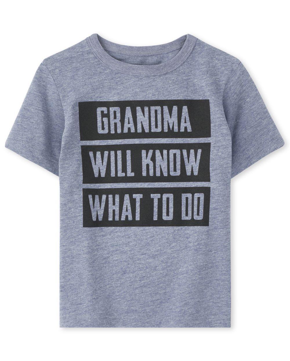 Camiseta estampada Grandma Will Know para bebés y niños pequeños