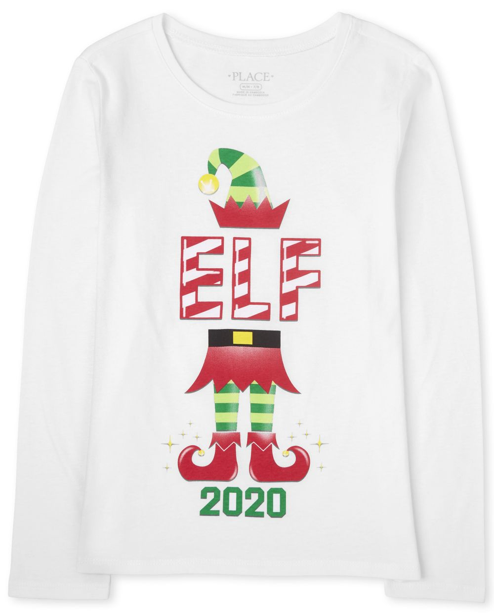 Girls Matching Family Christmas Elf Graphic Tee