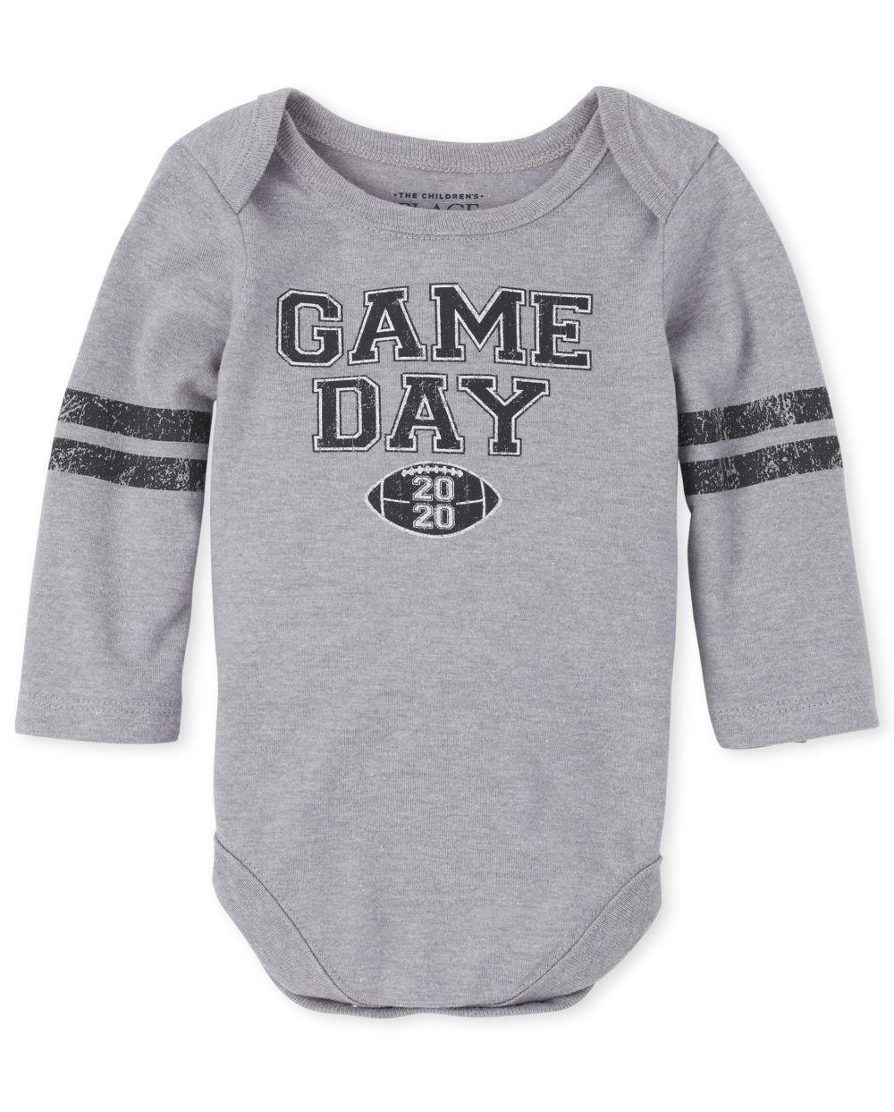 Unisex Baby Matching Family Football Graphic Bodysuit