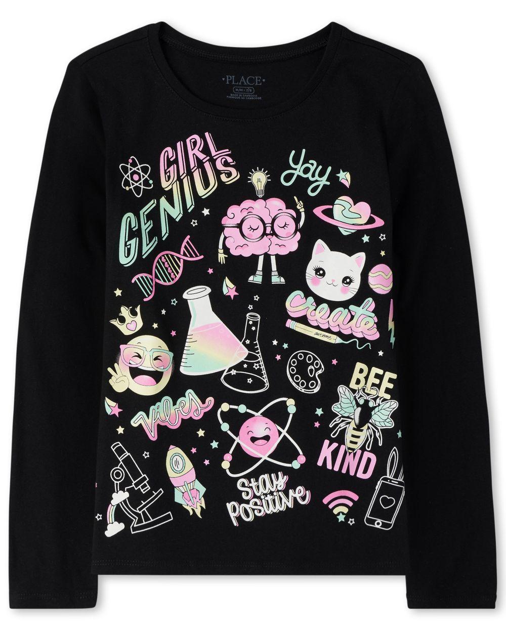 Girls Glitter Genius Graphic Tee