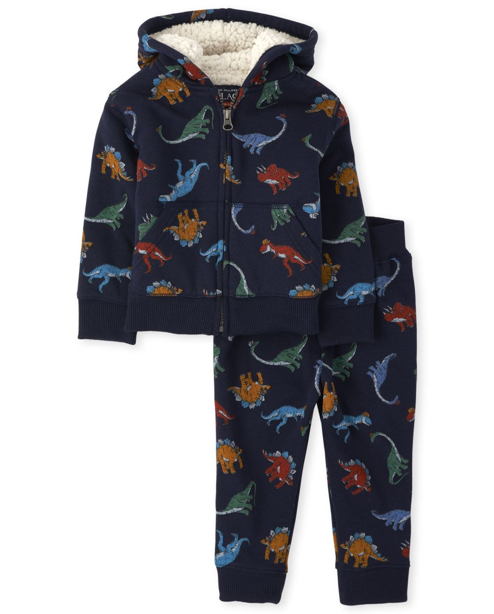 Baby And Toddler Boys Dino Sherpa Outfit Set