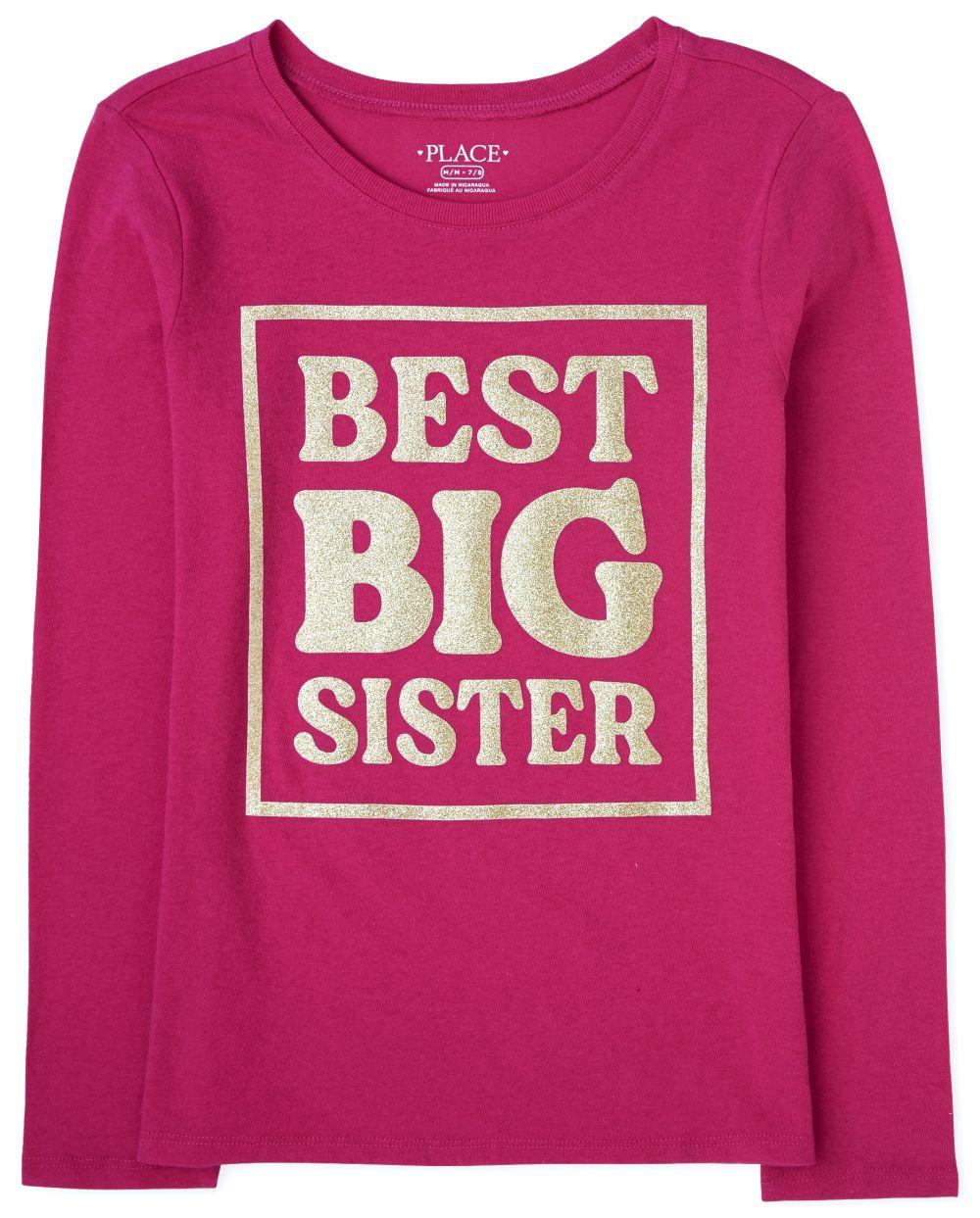 Girls Big Sister Graphic Tee