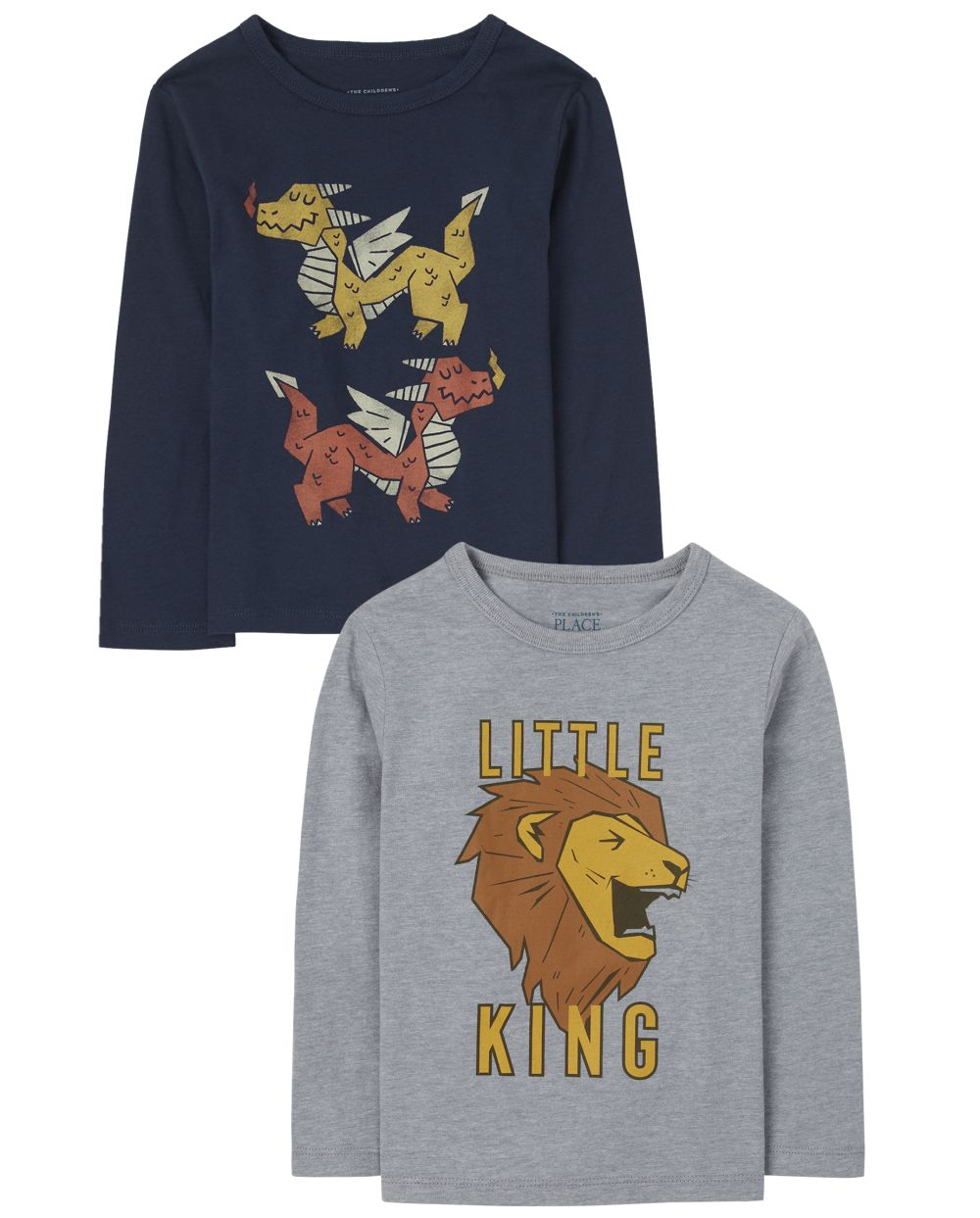 Baby And Toddler Boys Animal Graphic Tee 2-Pack