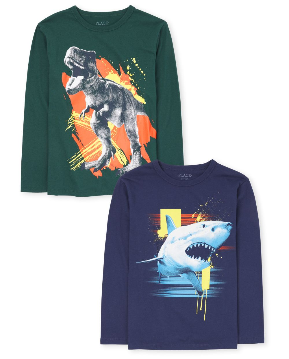 Boys Shark And Dino Graphic Tee 2-Pack