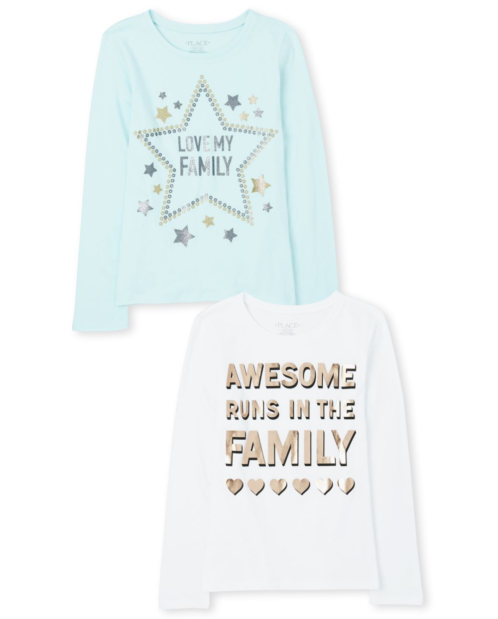 Girls Family Graphic Tee 2-Pack