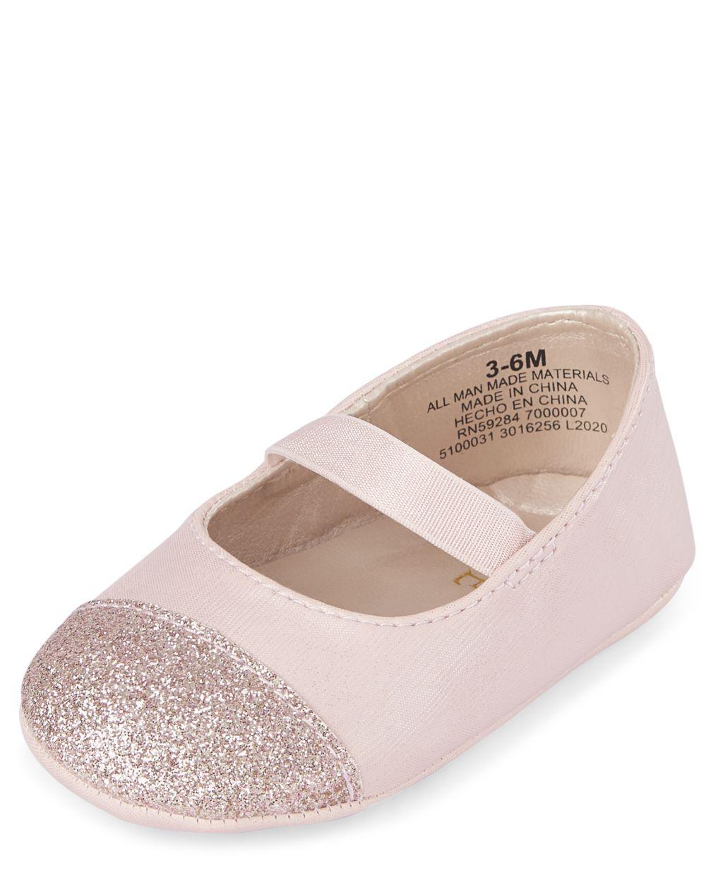 Baby Girls Glitter Toe Ballet Flats