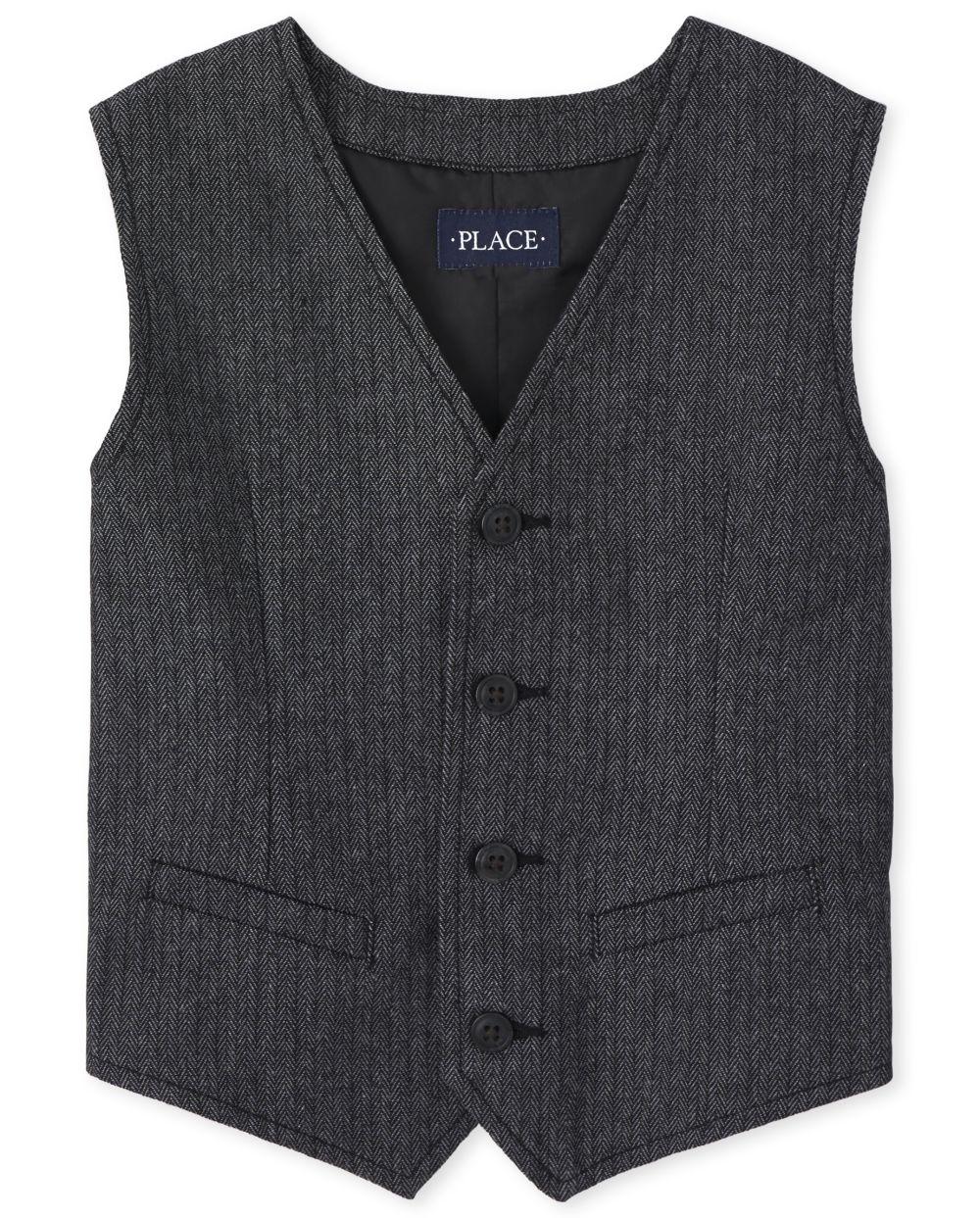 Boys Herringbone Dressy Vest