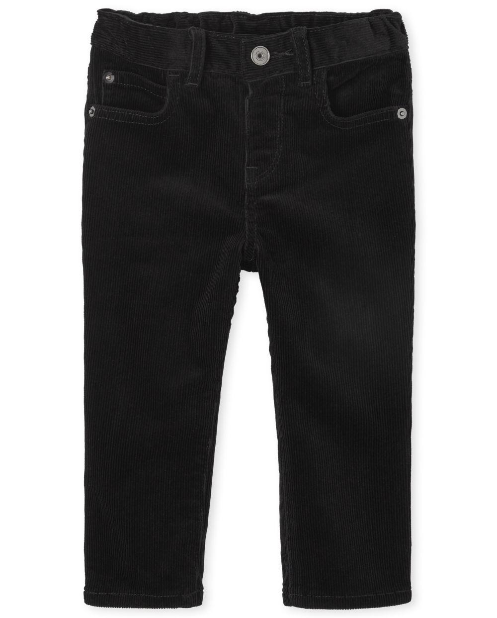 Pantalones de pana elásticos para niños pequeños