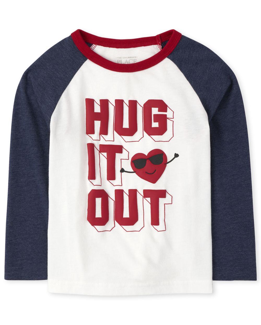 Toddler Boys Hug It Out Raglan Top