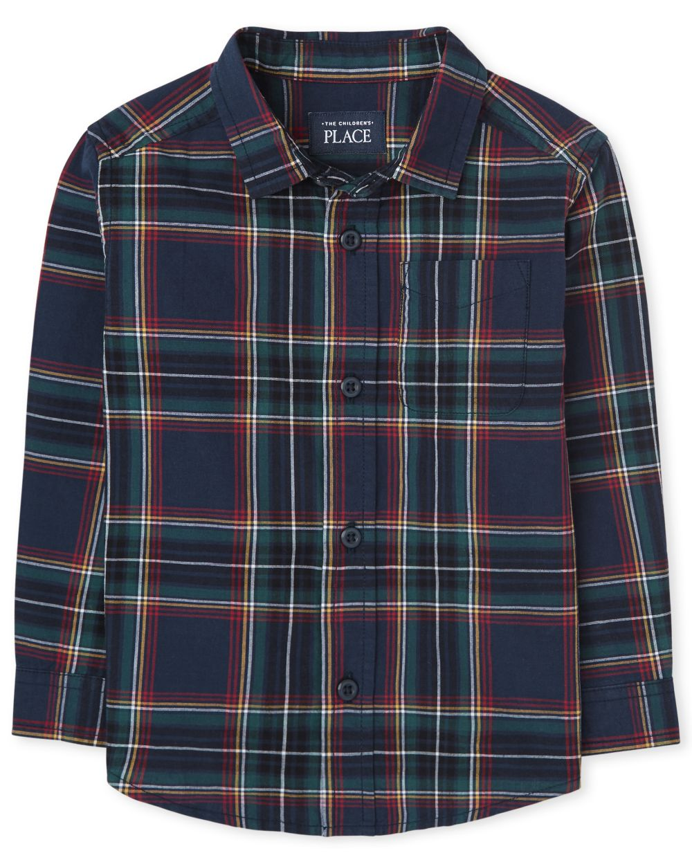 Toddler Boys Matching Family Plaid Poplin Button Down Shirt