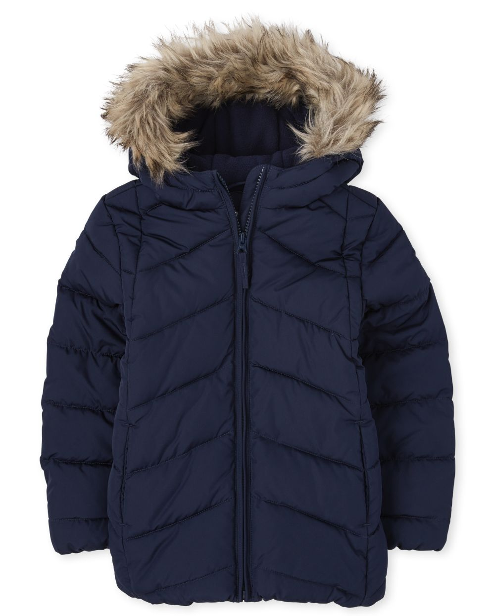 Girls Short Puffer Jacket