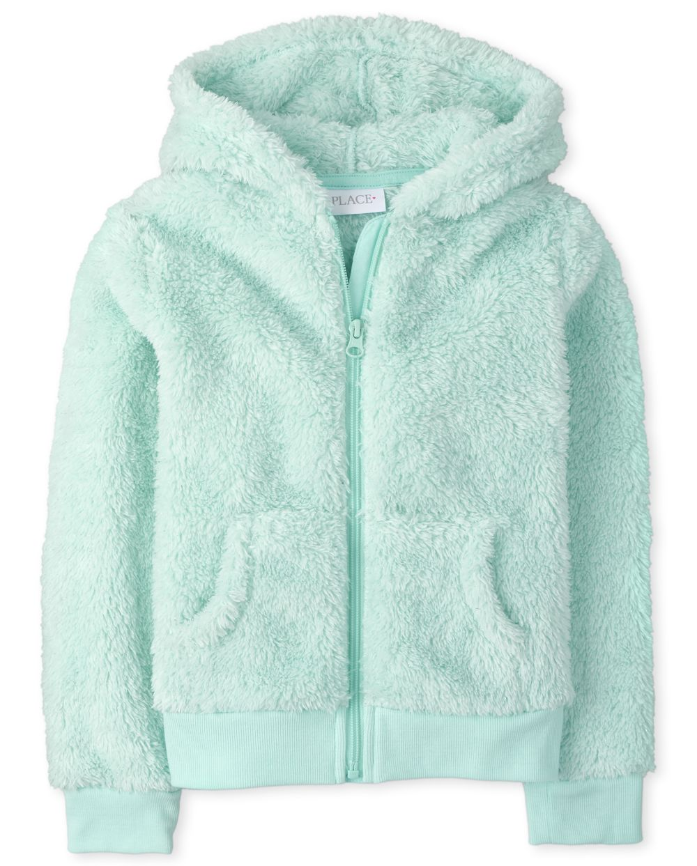 Girls Sparkle Faux Fur Zip Up Hoodie