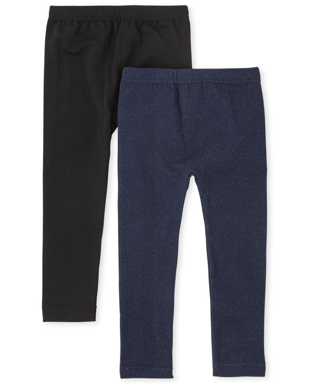 Paquete de 2 leggings con forro polar para niñas pequeñas